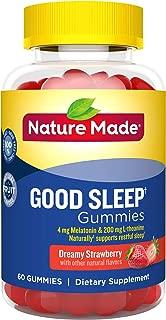 Nature Made Good Sleep† Gummies, 4mg Melatonin + 200 mg L-theanine, 60 Count (Packaging May Vary)