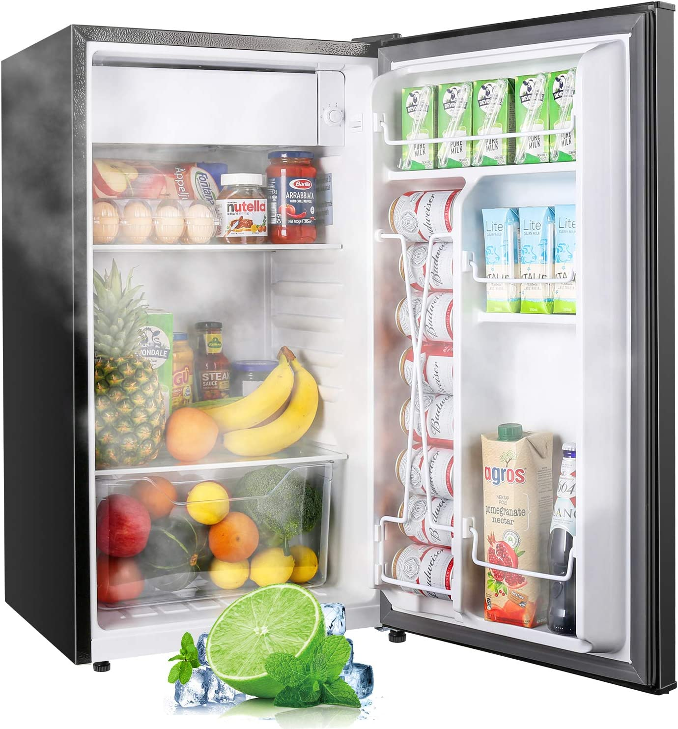 TECCPO Mini Fridge with Raleigh Mall Freezer TAMF32 Noise En Lowest price challenge 3.1 Cu.Ft Low