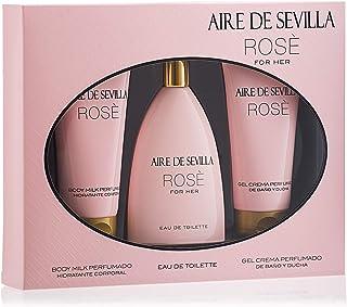 Aire de Sevilla Set de Belleza Edición Rosè - Body Milk  Eau de Toilette / Gel de baño y ducha para mujer