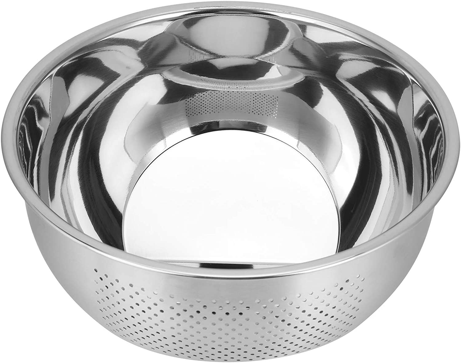 Colander Stainless Steel Dra Corrosion-Resistant Mirror-Polished 5 Columbus Mall popular