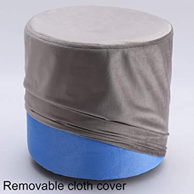 LIXIONG Ottoman, Round Padded Footrest Stool with Removable Flannelette Cover and Plastic Legs Shoes Stool for Bedroom Hallwa