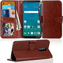 LG Stylo 4 Wallet Case, LG Q Stylus Wallet Case, NOKEA Flip Foliot [Kickstand Feature][Wrist Strap] Luxury Premium PU Leather Wallet CASE with ID &Credit Card-Slots for LG Stylo 4/Q Stylus Brown