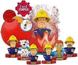CRAZE INKEE verrassingsgeur badbal met stempel Brandweerman Sam 12550,Multi-kleuren