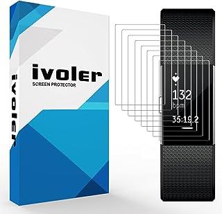 comprar comparacion ivoler 8 Unidades Protector de Pantalla para Fitbit Charge 2, Cobertura Completa líquida Instalar Sin Burbujas HD ...