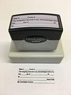 Notary Acknowledgement Stamp