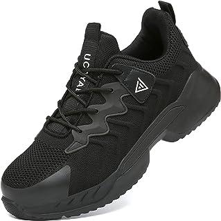 UCAYALI Zapatos de Seguridad Hombre Mujer Anti-Piercing Antideslizante Ligero Transpirable Zapatos de Trabajo Punta de Ace...