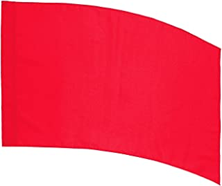 DSI Color Guard Practice Flag (PCS) - Curved Rectangle - Red
