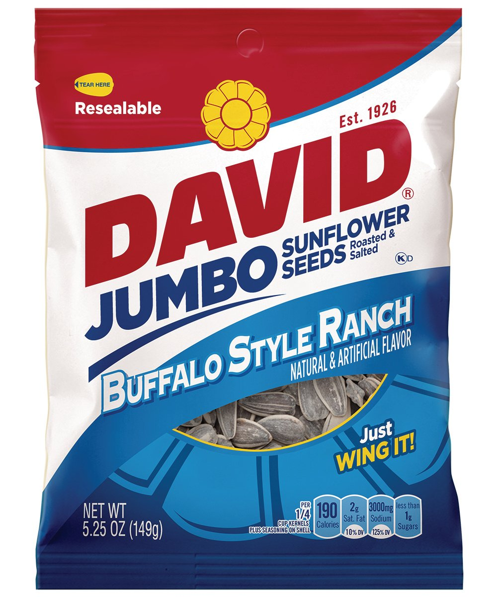 David Jumbo Roasted Salted Sunflower Manufacturer regenerated product Ranch Flavor Buffalo Max 74% OFF Seeds
