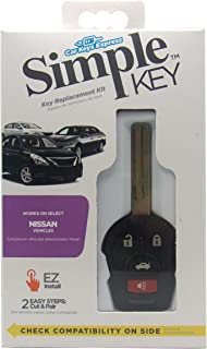 Car Keys Express Simple Key 4 Button Remote for Nissan