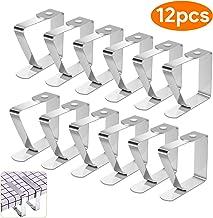 12er SET Tischdeckenklammern Tischdeckenbeschwerer Tischdeckenhalter Tischtuch Clips
