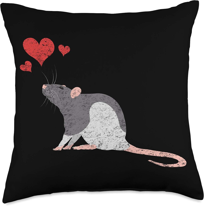Pet Rat Gift Apparel Cute Lover Overseas parallel import Max 66% OFF regular item Rodent Throw Beat Heart