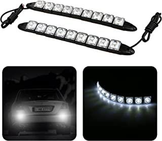 EEEKit 2X Universal Car Vehicles 9 LED DC 12V Daytime Running Light DRL Kit Fog Light Day Driving Daylight Lamp