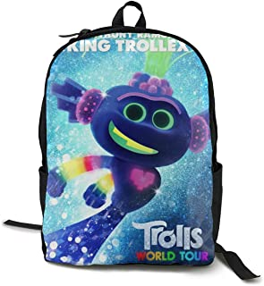 Trolls World Tour King Trollex Fashionable Multifunction Casual Unisex School Bags Laptop Backpack Travel Bookbag College Shoulders Backpack