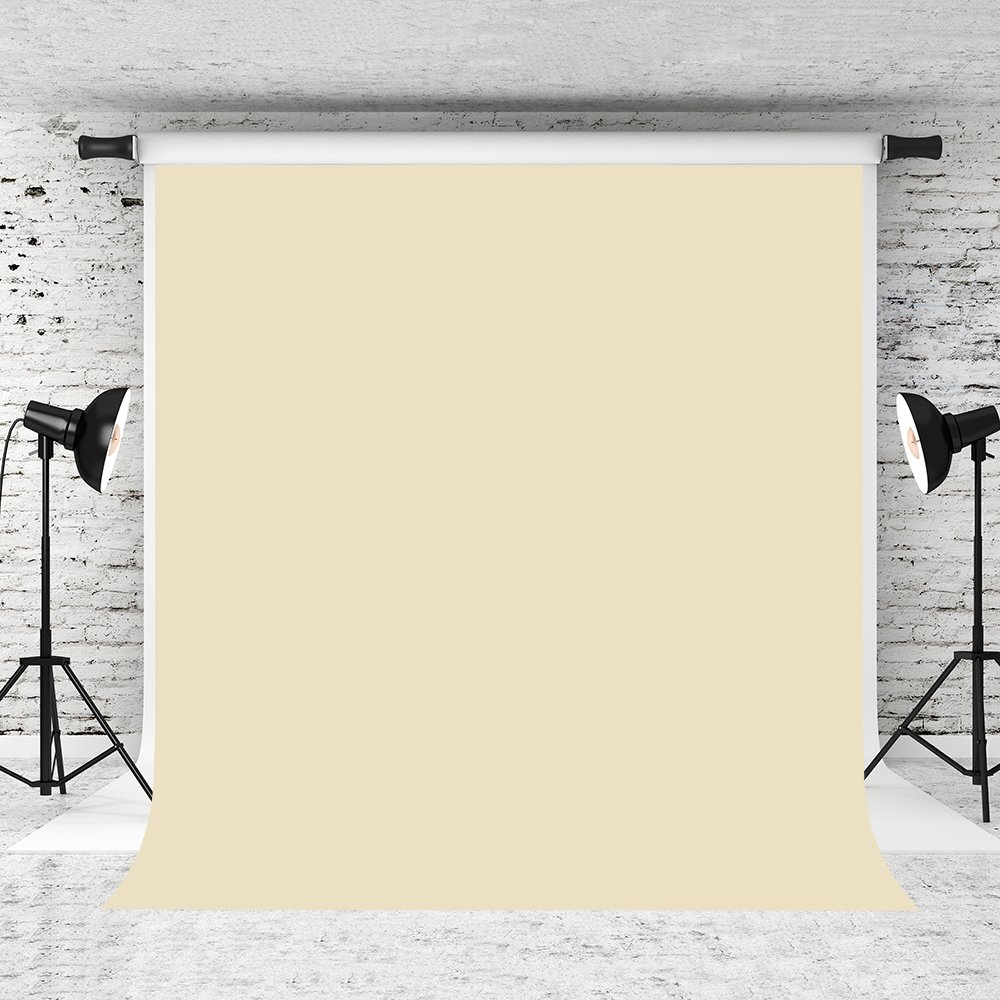 SR-2027 Photography Backdrop Cream Bisque Background Solid Color Pure Simple Screen Back Drops Zoom Studio Photoshoot Portrait Clean Banner Party Scene Setter Wall Decorations Poster 5x6.5ft