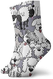 Jhonangel, Niños Niñas Locos Divertidos Viejos calcetines de perros pastor inglés Calcetines lindos de vestir de novedad
