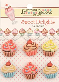 Sweet Delights Buttons-Cupcakes