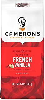 Cameron's Coffee Roasted Ground Coffee Bag, Flavored, French Vanilla, 12 Ounce