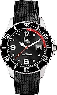 Ice-Watch - ICE steel Black - Montre noire pour homme avec bracelet en silicone