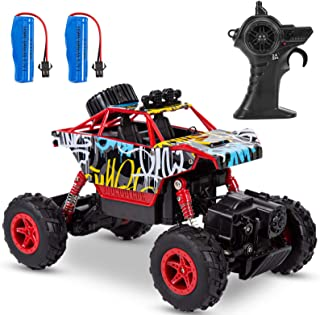 Sakiyr RC Crawler 1:20 Remote Control Car 2.4Ghz RC Car with Two Rechargeable Batteries Off-Road Vehicle Electric Hobby To...