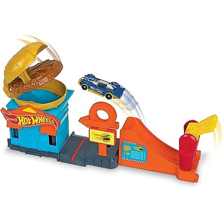 Hot Wheels City Hambugueseria Pista de Coches de Juguete (Mattel Gjk73)