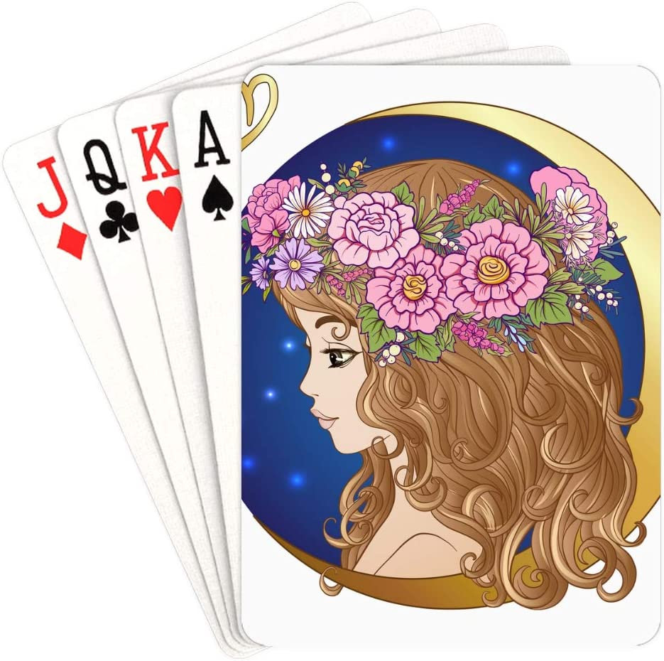 WUTMVING Personalized Playing Cards Mail order cheap Sign Chicago Mall Zodiac Virg