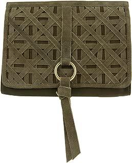 Womens Aspen Leather Crossbody Shoulder Handbag Green Small
