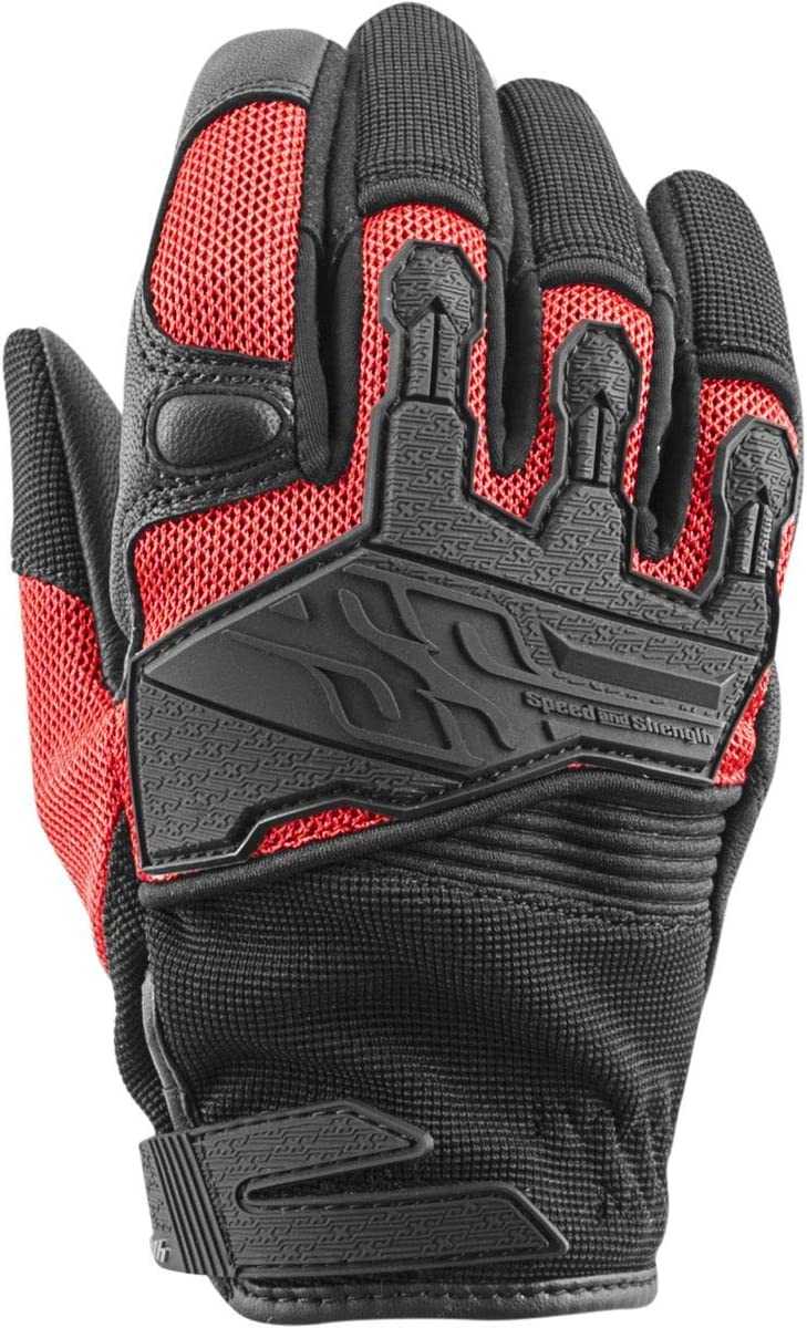 Speed and Strength Backlash Women's Street Motorcycle Gloves - Red/Large