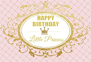 AOFOTO 6x4ft Little Princess Happy Birthday Backdrop Royal Sweet Girls Crown Background Photo Studio Props Kids Baby 1st 2nd 3rd Bday Party Decoration Banner Vinyl