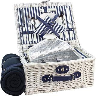Canasta de picnic Willow para 2 personas, juego de cesto de
