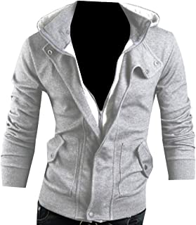 Colourful Mens Breathable Stitching Button Luxury Sweatshirt Hoodie