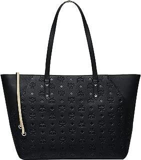 MCM Women's Klara Monogrammed Leather Charm Top Zip Shopper Medium