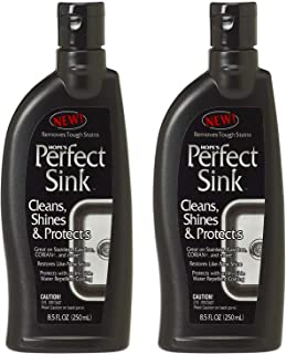 Hope's Perfect Sink - 8.5 Ounce Sink Cleaner and Polish, Restorative, Water-Repellant Formula, Removes Stains, Good for Brushed Stainless Steel, Cast Iron, Porcelain, Corian, Acrylic, 2 Pack