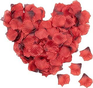 Lawei 4000 pétalos de Rosa de Seda Artificiales pétalos de Rosa para Boda Fiesta hogar Hotel decoración del día de Sa...