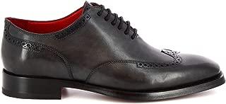 LEONARDO SHOES Luxury Fashion Mens 912019TOMGREY Grey Lace-Up Shoes | Season Permanent