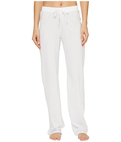Hanro Cotton Deluxe Drawstring Long Pants (White) Women