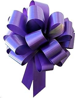 Large Purple Ribbon Pull Bows - 9