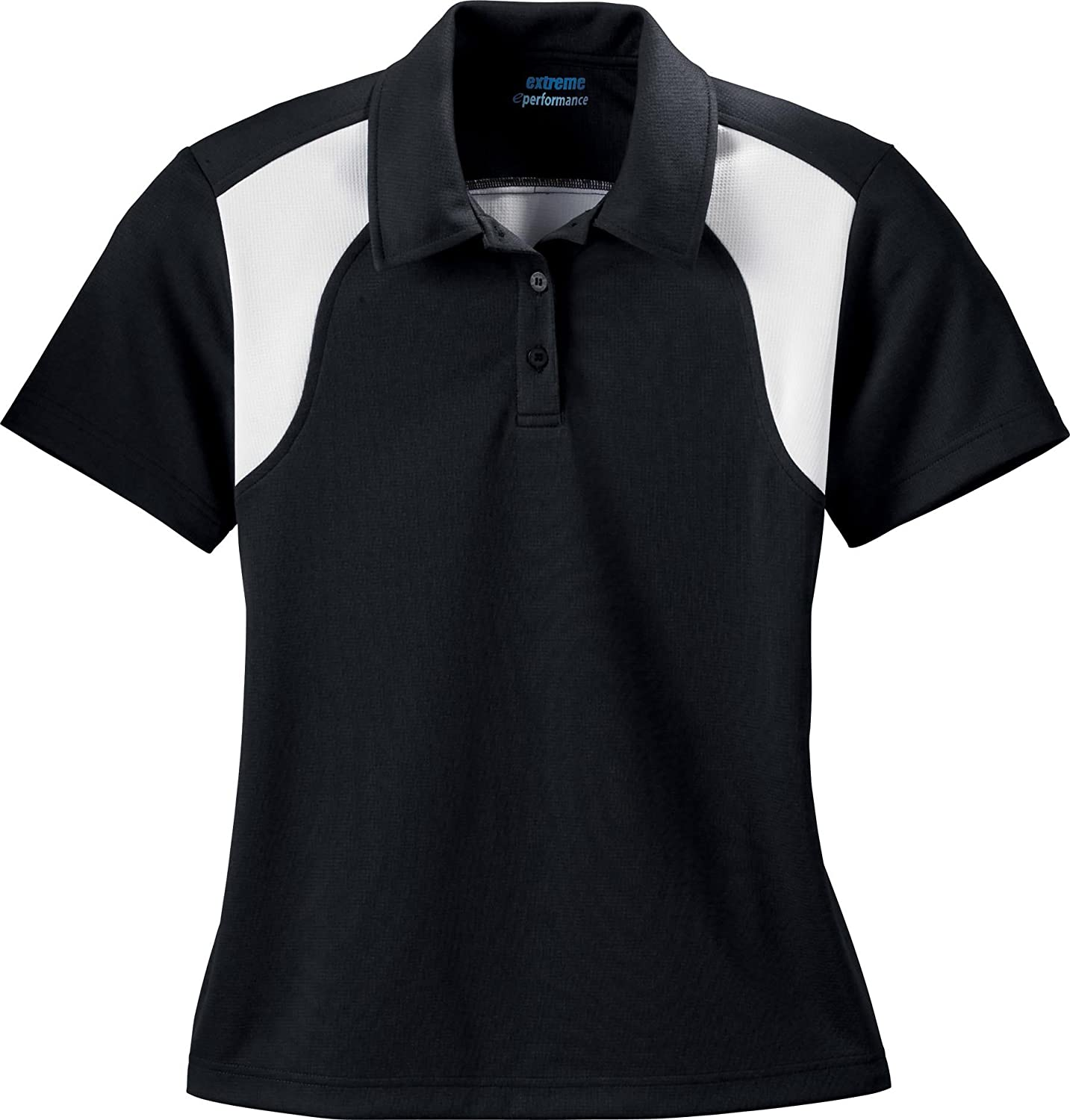 Ash City Extreme Eperformance Color-Block Textured Polo (75066) -Black -M