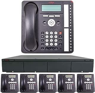 Avaya IP Office Phone System: Basic Digital Edition - & 1 Year of Free Telco Depot Dialtone Service (6 Phone Bundle)