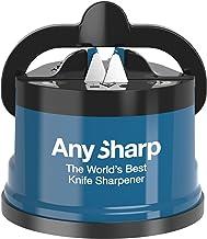 AnySharp Knife Sharpener with PowerGrip, Blue