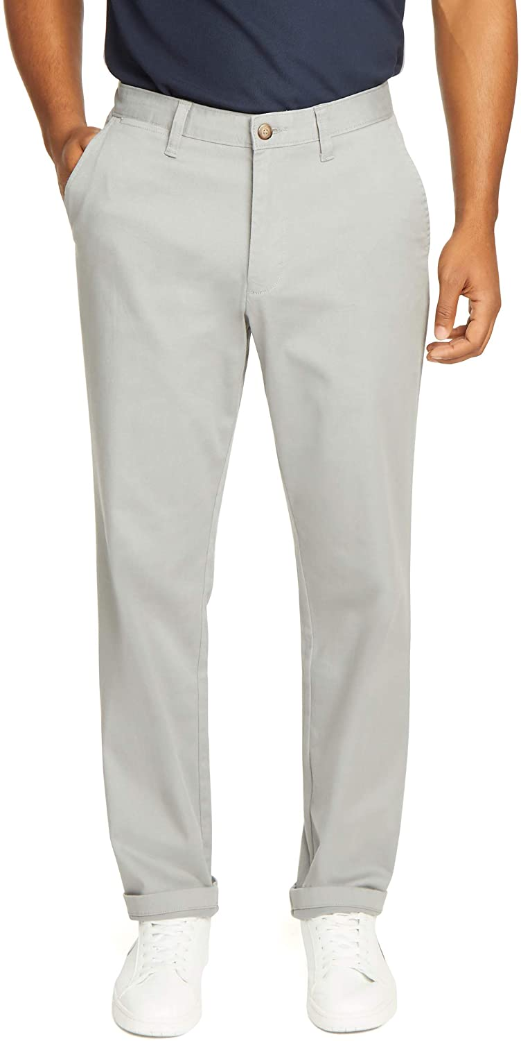 Nautica Men's Classic Fit Flat Front Solid Stretch Pa Chino Deck Now on sale Challenge the lowest price of Japan