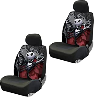 Disney Nightmare Before Christmas Jack Skellington Ghostly Low Back Seat Covers Front Pair