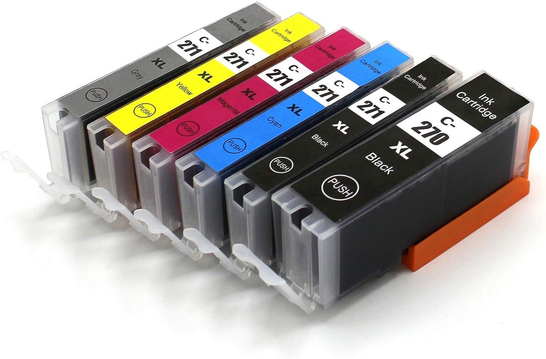 271XL pgi 270 CLI-271 PGI-270 Compatible for Canon PIXMA MG5720 / MG5721 Printers
