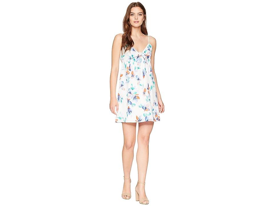 Jack by BB Dakota Marlee Printed Open Back Dress (Bright White) Women