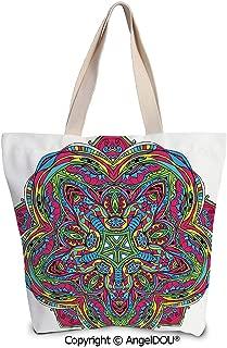 SCOXIXI Letter E Reusable Eco-friendly Shopping Shoulder bag Portuguese Tiles a