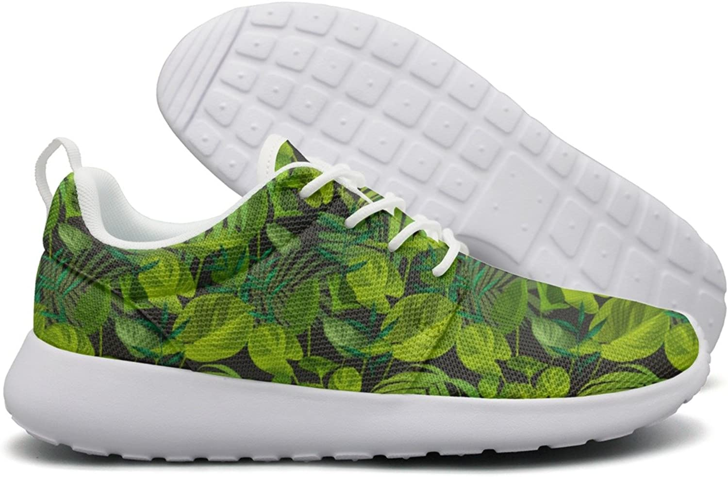 Tropical Leaf Pattern Women's New Casual Running shoes Novelty Cute