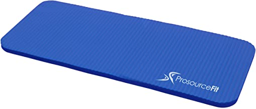 "(Blue) - ProSource Extra Thick Yoga Knee Pad and Elbow Cushion 15mm (5/8"") Fits Standard Mats for Pain Free Joints in Yoga, Pilates, Floor Workouts"