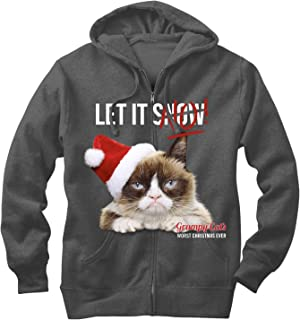 Grumpy Cat Men's Let it No Zip Up Hoodie