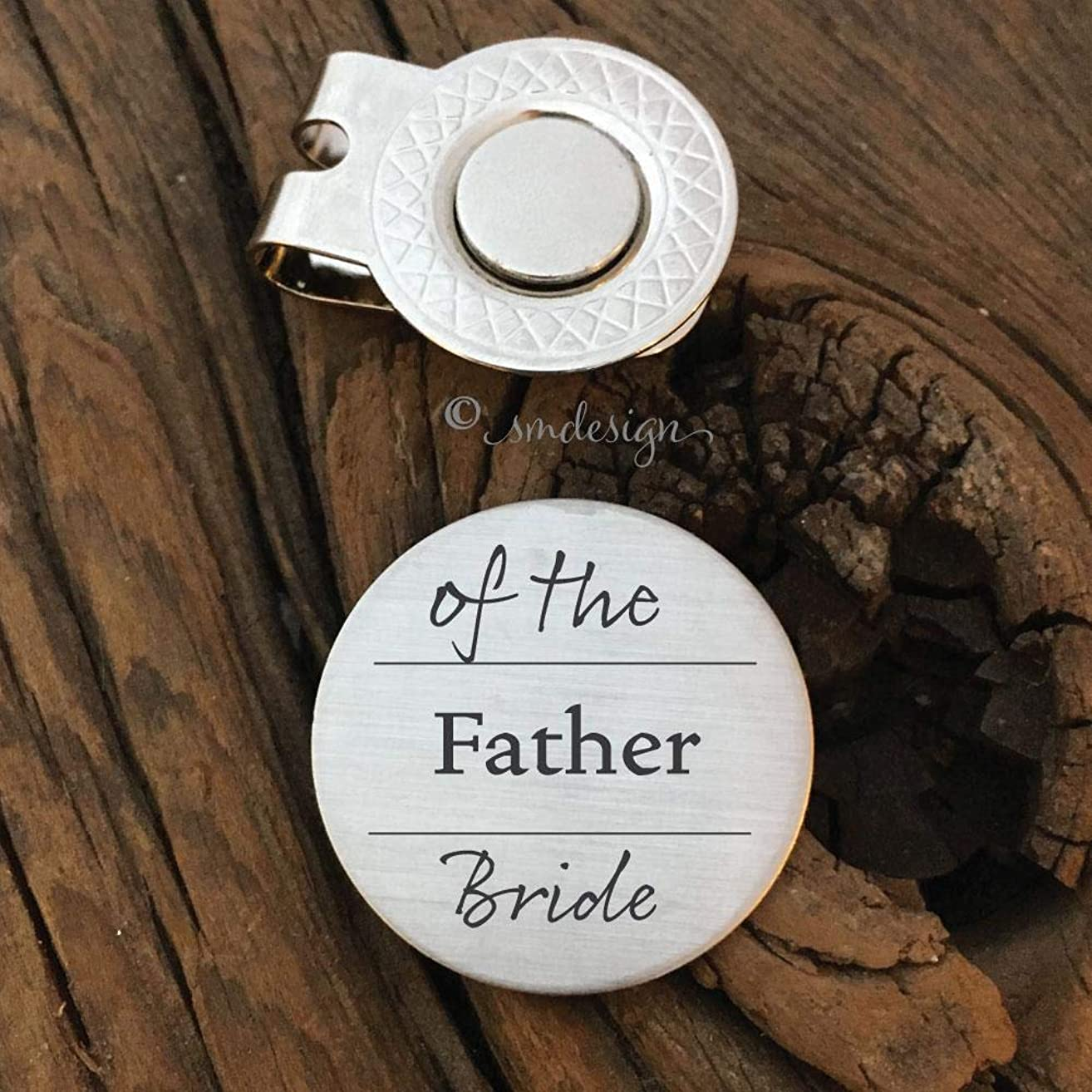 Father Of the Bride Golf Ball Marker- Dad Gift Father of the Bride Gift Golf Marker Wedding Gift Bride Dad Gift Parent Wedding Day Gift