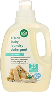 Whole Foods Market, Organic Baby Laundry Detergent (33 HE Loads), Unscented, 50 Fl Oz