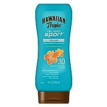 Hawaiian Tropic Island Sport Sunscreen Lotion, Ultra Light, High Performance Protection, SPF 30, 8 Ounces